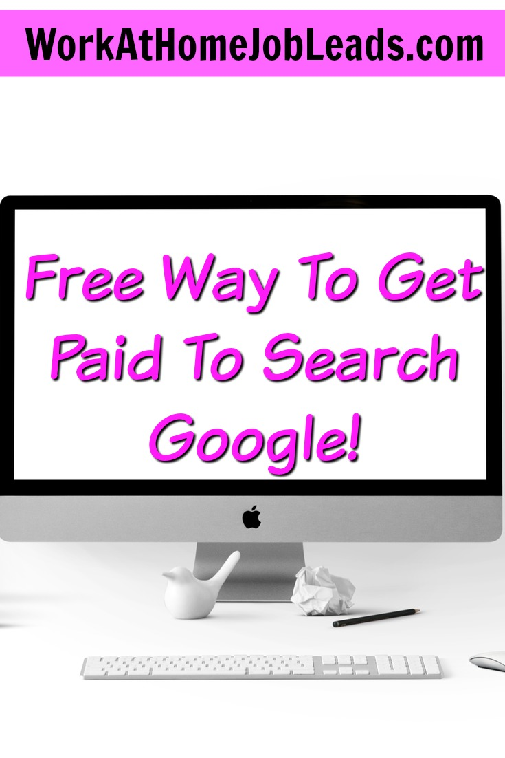Did you know you could get paid to search Google? Not only can you get paid to search google, but you can also get paid to search other search engines and major online retailers like Amazon!