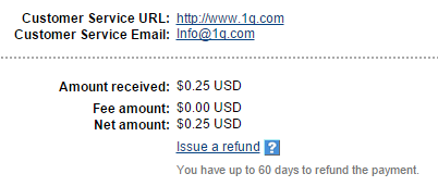 1q payment proof